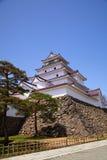 Castelo de Aizu Wakamatsu, Fukushima, Japão Imagem de Stock