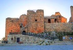 Castelo de Ajloun nas ruínas Fotos de Stock Royalty Free