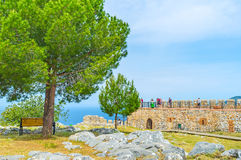 Castelo de Alanya da visita Fotografia de Stock Royalty Free
