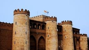 Castelo de Aljaferia em Zaragoza Imagem de Stock