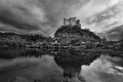 Castelo de Almourol em Portugal foto de stock royalty free