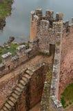Castelo de Almourol Templar, situado em uma ilhota no tiver de Tagus, Portugal central imagem de stock