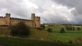 Castelo de Alnwick foto de stock royalty free