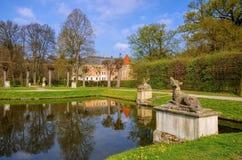 Castelo de Altdoebern em Lusatia Fotografia de Stock