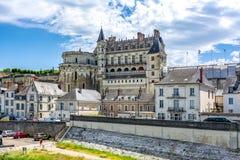 Castelo de Amboise em Loire Valley, França fotos de stock