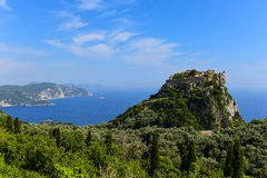 Castelo de Angelokastro fotos de stock royalty free