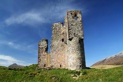 Castelo de Ardvreck, montanhas, Scotland Imagem de Stock Royalty Free