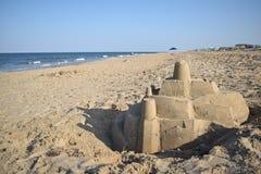 Castelo de areia em Virgínia Foto de Stock Royalty Free