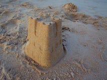 Castelo de areia pequeno Foto de Stock Royalty Free