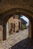 Castelo de Battenberg, Rhineland-palatinado, Alemanha imagem de stock