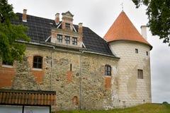 Castelo de Bauska Fotos de Stock Royalty Free