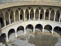 Castelo de Bellver em Palma de Mallorca, Spain Imagens de Stock Royalty Free
