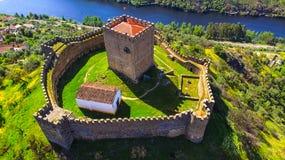 Castelo de Belver - Muralhas - castillo Fotografía de archivo