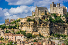 Castelo de beynac france Imagem de Stock Royalty Free