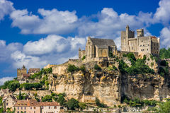 Castelo de beynac france Foto de Stock Royalty Free