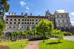 Castelo Castelo de Blois de Blois em Loire Valley, França imagem de stock royalty free