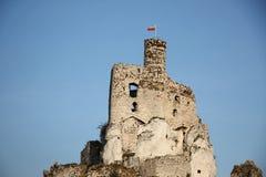 Castelo de Bobolice imagem de stock