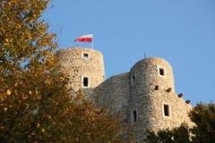 Castelo de Bobolice fotografia de stock