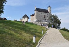 Castelo de Bobolice, Poland Fotografia de Stock Royalty Free
