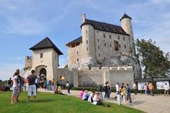 Castelo de Bobolice, Poland Fotografia de Stock
