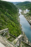 Castelo de Bode Dam Royalty Free Stock Photo