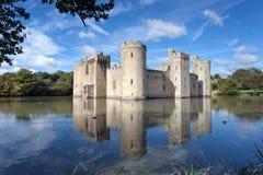 Castelo de Bodiam, Sussex do leste, Reino Unido Fotos de Stock