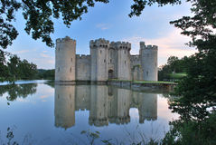 Castelo de Bodiam, Sussex do leste, Reino Unido fotos de stock royalty free