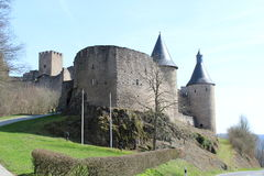 Castelo de Bourscheid Imagem de Stock