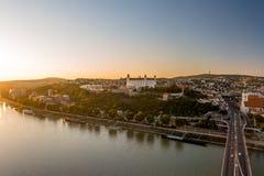 Castelo de Bratislava no capital da república eslovaca Foto de Stock Royalty Free