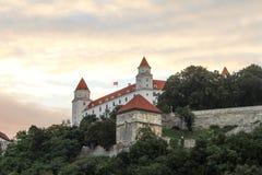 Castelo de Bratislava, Slovakia imagens de stock