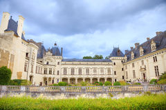 Castelo de Breze, France foto de stock