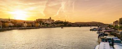 Castelo de Buda em Budapest Fotos de Stock Royalty Free