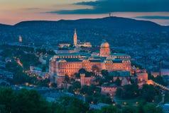 Castelo de Buda em Budapest imagem de stock