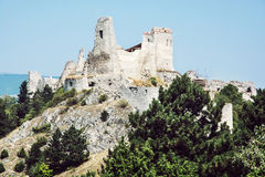 Castelo de Cachtice, Eslováquia Imagem de Stock