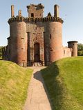 Castelo de Caerlaverock Foto de Stock Royalty Free