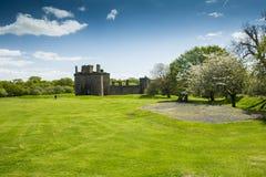 Castelo de Caerlaverock, Dumfries, Escócia Imagens de Stock