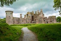 Castelo de Caerlaverock, Dumfries, Escócia Foto de Stock Royalty Free