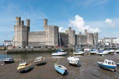 Castelo de Caernarfon Foto de Stock