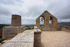 Castelo de Capdepera A municipalidade Capdepera, ilha Majorca, Espanha foto de stock