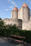 Castelo de Carcassonne Foto de Stock Royalty Free
