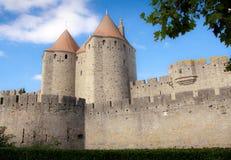 Castelo de Carcassonne Fotos de Stock Royalty Free