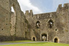 Castelo de Cardiff cidade de cardiff, wales, Reino Unido perspective imagem de stock royalty free