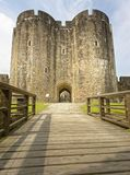 Castelo de Cardiff cidade de cardiff, wales, Reino Unido perspective fotografia de stock royalty free