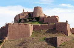 Castelo de Cardona, Espanha imagens de stock