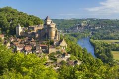 Castelo de Castelnaud foto de stock