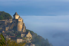 Castelo de Castelnaud - Dordogne-Perigord foto de stock royalty free