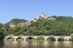 Castelo de Castlenaud no Dordogne França imagens de stock royalty free