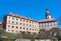 Castelo de Cesky Krumlov fotos de stock royalty free