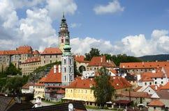 Castelo de Cesky Krumlov fotos de stock