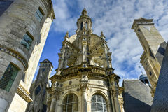 Castelo de Chambord - França fotografia de stock